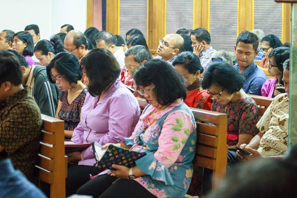 Ibadah Riyoyo Undhuh-undhuh, GKJ Bekasi, 8 Juni 2014 jam 06.00